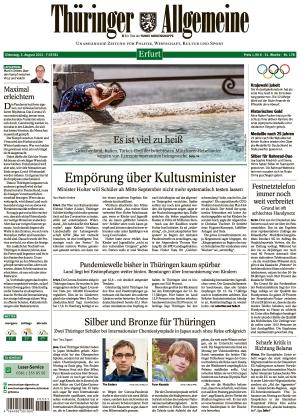 Thüringer Allgemeine - Erfurt (03.08.2021)