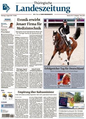 Thüringische Landeszeitung - Weimar (03.08.2021)