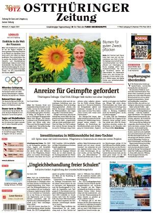 Ostthüringer Zeitung - Gera (04.08.2021)