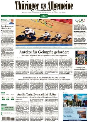 Thüringer Allgemeine - Erfurt (04.08.2021)