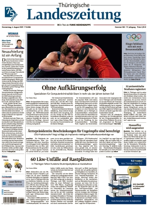 Thüringische Landeszeitung - Weimar (05.08.2021)
