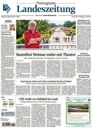 Thüringische Landeszeitung - Weimar (13.09.2021)