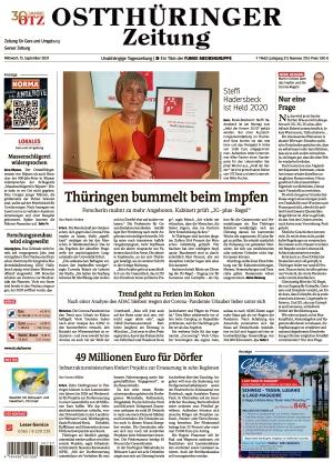 Ostthüringer Zeitung - Gera (15.09.2021)