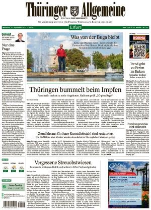 Thüringer Allgemeine - Erfurt (15.09.2021)