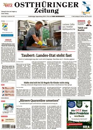 Ostthüringer Zeitung - Gera (16.09.2021)