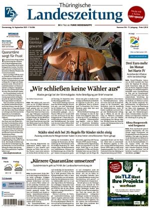 Thüringische Landeszeitung - Weimar (16.09.2021)