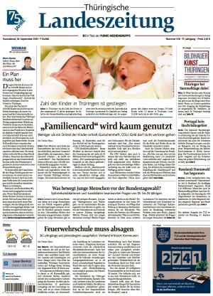 Thüringische Landeszeitung - Weimar (18.09.2021)