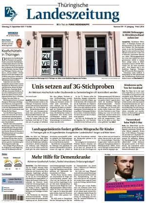 Thüringische Landeszeitung - Weimar (21.09.2021)