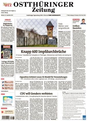 Ostthüringer Zeitung - Gera (22.09.2021)