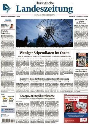Thüringische Landeszeitung - Weimar (22.09.2021)