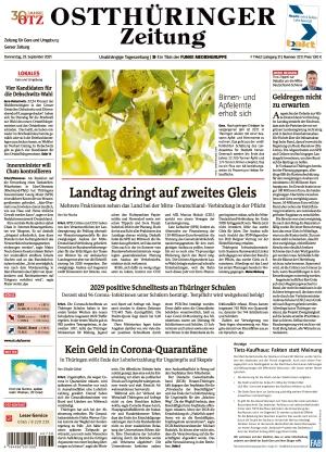 Ostthüringer Zeitung - Gera (23.09.2021)