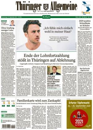 Thüringer Allgemeine - Erfurt (23.09.2021)