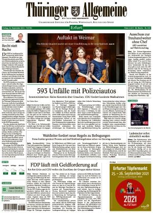 Thüringer Allgemeine - Erfurt (24.09.2021)