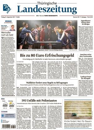 Thüringische Landeszeitung - Weimar (24.09.2021)