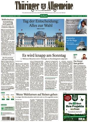 Thüringer Allgemeine - Erfurt (25.09.2021)