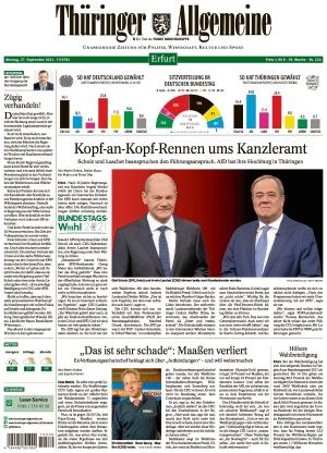 Thüringer Allgemeine - Erfurt (27.09.2021)