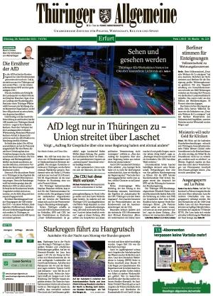 Thüringer Allgemeine - Erfurt (28.09.2021)