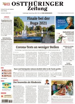 Ostthüringer Zeitung - Gera (09.10.2021)