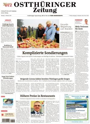 Ostthüringer Zeitung - Gera (11.10.2021)