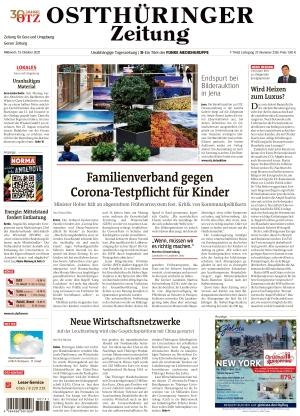 Ostthüringer Zeitung - Gera (13.10.2021)
