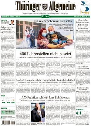 Thüringer Allgemeine - Erfurt (14.10.2021)
