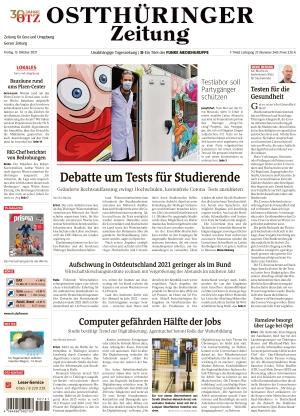 Ostthüringer Zeitung - Gera (15.10.2021)
