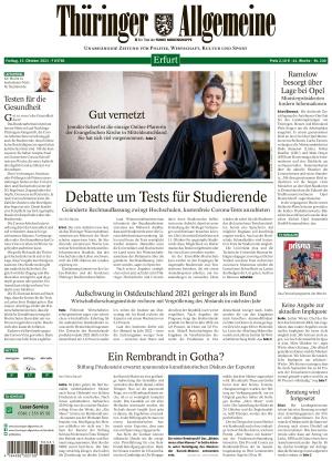 Thüringer Allgemeine - Erfurt (15.10.2021)