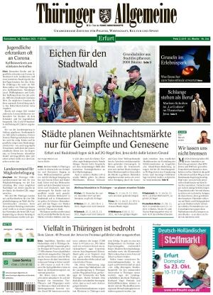 Thüringer Allgemeine - Erfurt (16.10.2021)