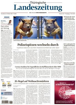 Thüringische Landeszeitung - Weimar (16.10.2021)