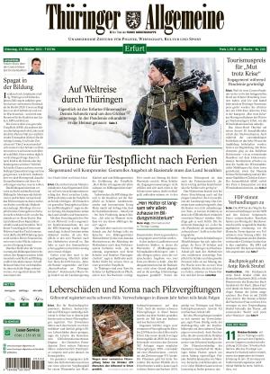 Thüringer Allgemeine - Erfurt (19.10.2021)