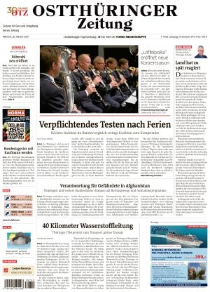 Ostthüringer Zeitung - Gera (20.10.2021)