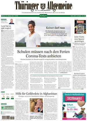 Thüringer Allgemeine - Erfurt (20.10.2021)