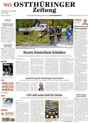Ostthüringer Zeitung - Gera (22.10.2021)