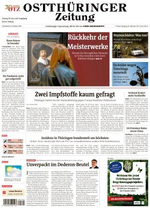 Ostthüringer Zeitung - Gera (23.10.2021)