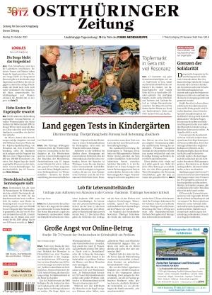 Ostthüringer Zeitung - Gera (25.10.2021)
