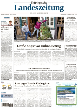 Thüringische Landeszeitung - Weimar (25.10.2021)