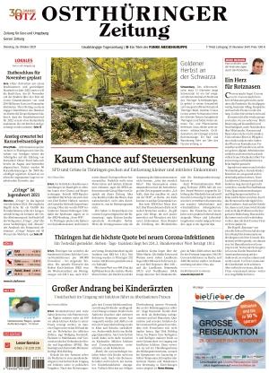 Ostthüringer Zeitung - Gera (26.10.2021)