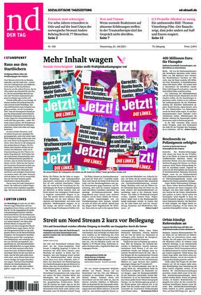 Neues Deutschland (22.07.2021)