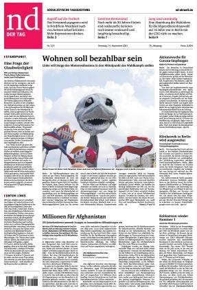 Neues Deutschland (14.09.2021)