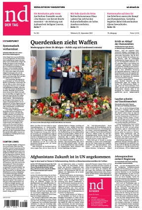 Neues Deutschland (22.09.2021)