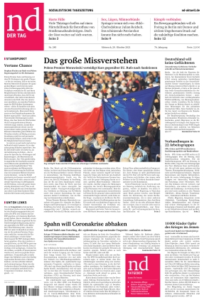 Neues Deutschland (20.10.2021)