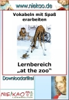 "Lernbereich ""at the Zoo"""