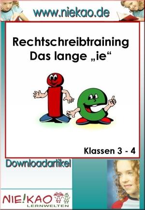 """Rechtschreibtraining langes """"ie"""""""