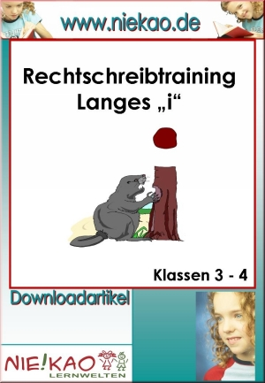 "Rechtschreibtraining langes ""i"""