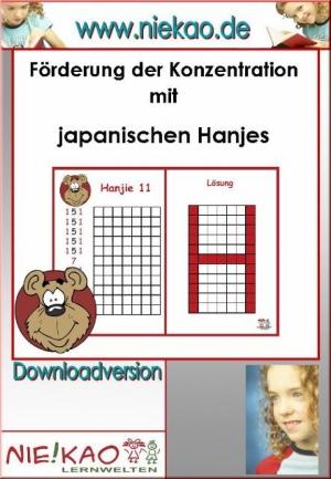 Förderung der Konzentration mit japanischen Hanjies