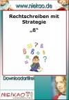 """ß"" für die Klassen 2-4"