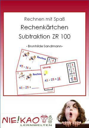 Rechenkärtchen Subtraktion ZR 100