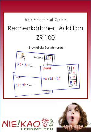 Rechenkärtchen Addition ZR 100