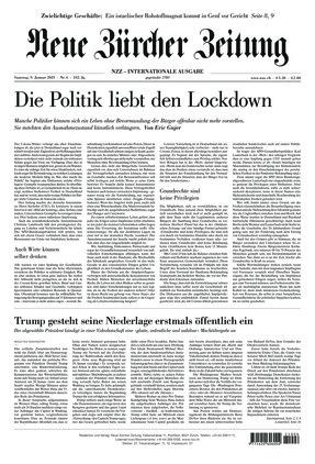 Neue Zürcher Zeitung International (09.01.2021)