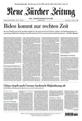 Neue Zürcher Zeitung International (16.01.2021)